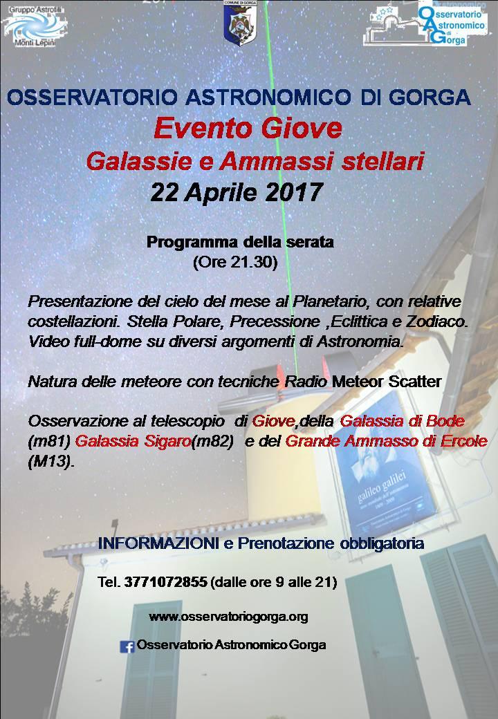 Eventi al Planetario